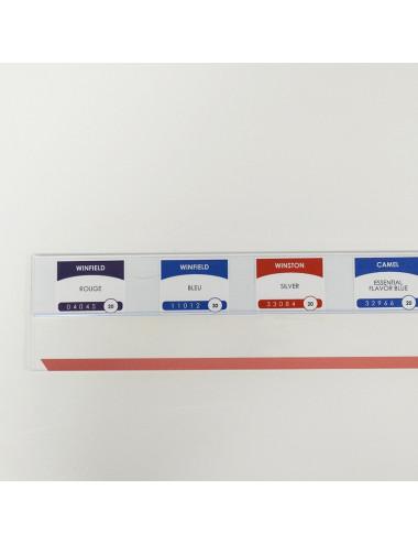 Réglette PVC + Plexi (par 24 mètres linéaires)