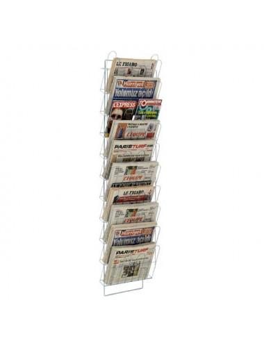 Echelle murale journaux 10 cases