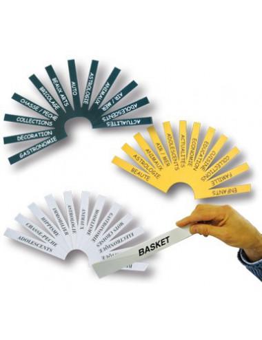 Porte-étiquettes adhésif (par 30) + 50 Bristols de couleur imprimés